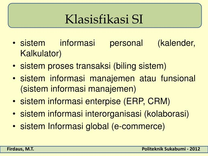 Klasisfikasi