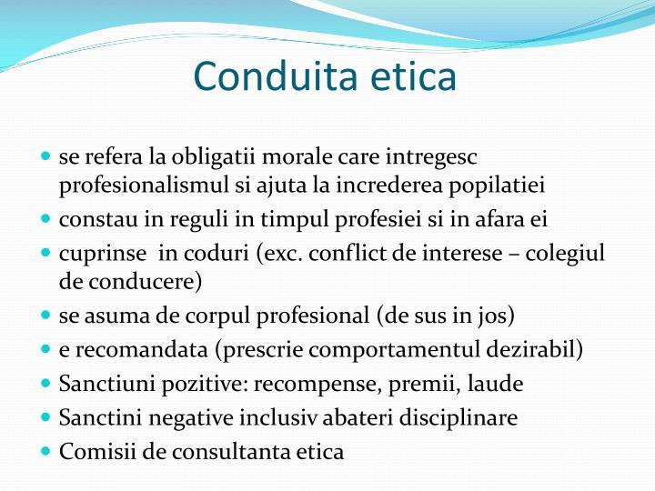 Conduita etica