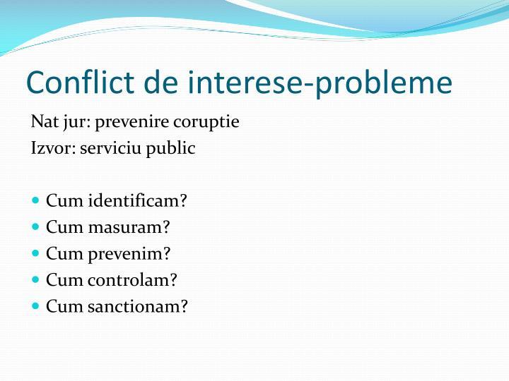 Conflict de interese-probleme