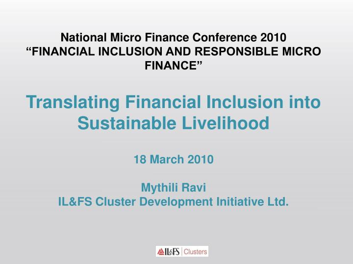 National Micro Finance Conference 2010