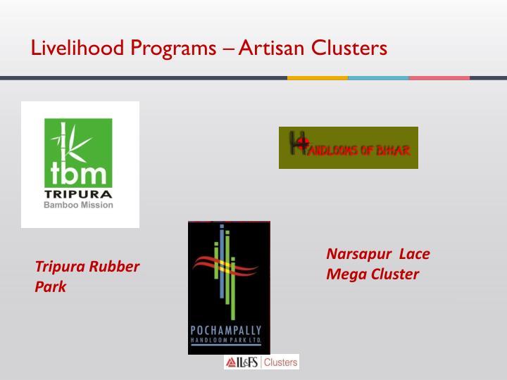 Livelihood Programs – Artisan Clusters