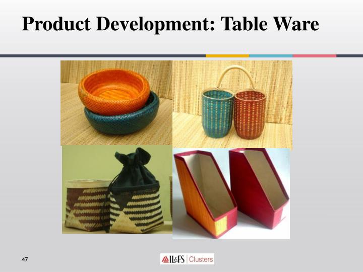 Product Development: Table Ware