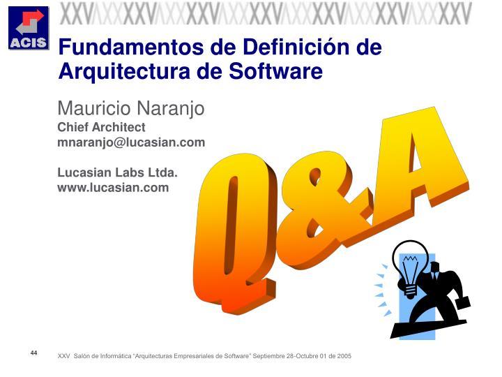 Fundamentos de Definición de Arquitectura de Software