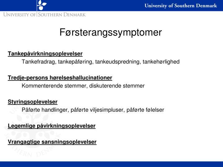 Førsterangssymptomer
