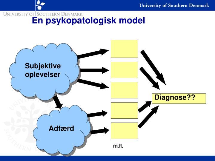 En psykopatologisk model