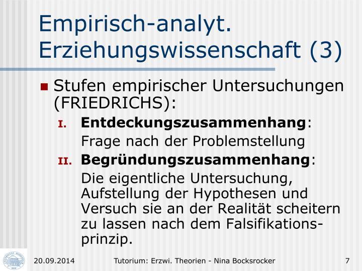 Empirisch-analyt.