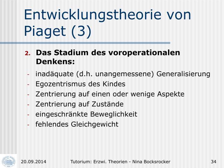 Entwicklungstheorie von Piaget (3)
