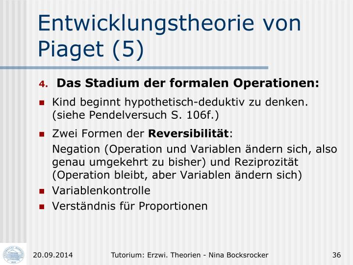 Entwicklungstheorie von Piaget (5)