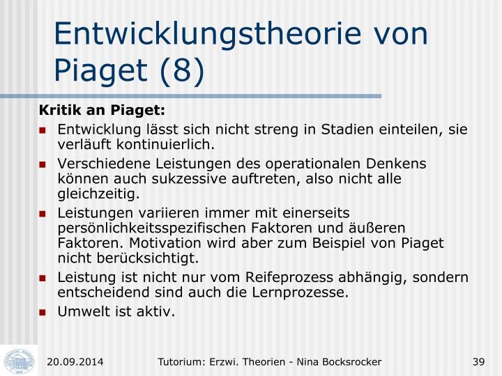 Entwicklungstheorie von Piaget (8)