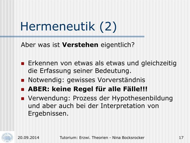 Hermeneutik (2)