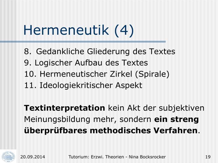 Hermeneutik (4)