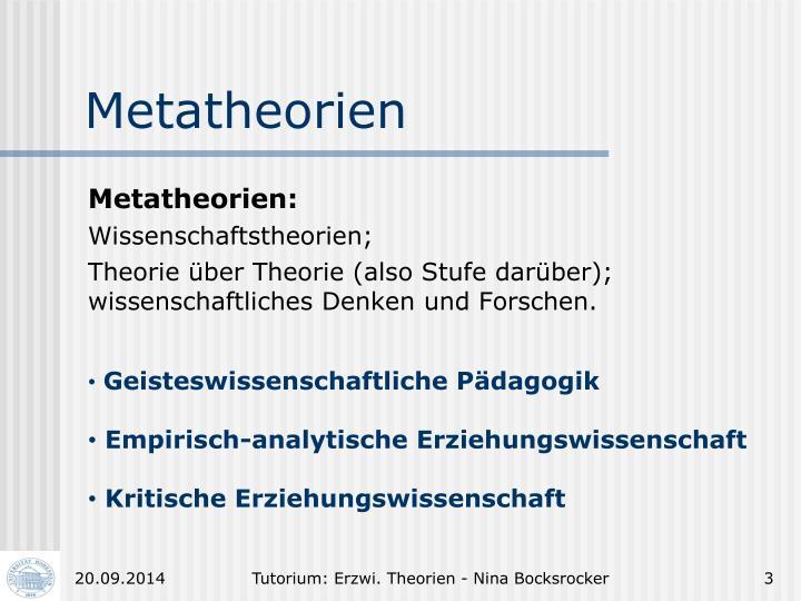 Metatheorien