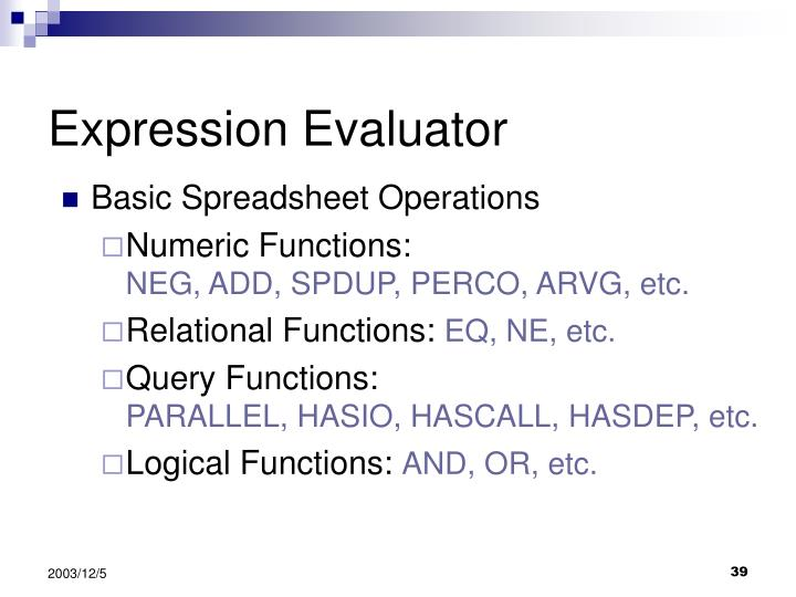 Expression Evaluator