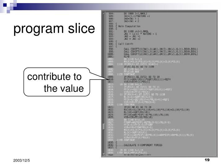 program slice