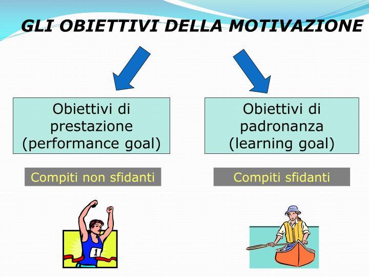 Obiettivi di prestazione (performance goal)