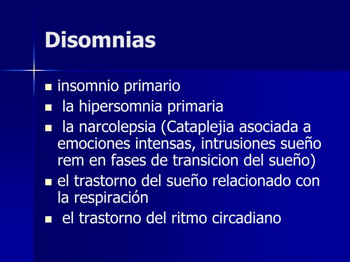 Disomnias