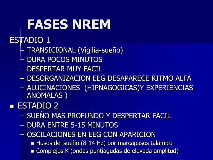 FASES NREM
