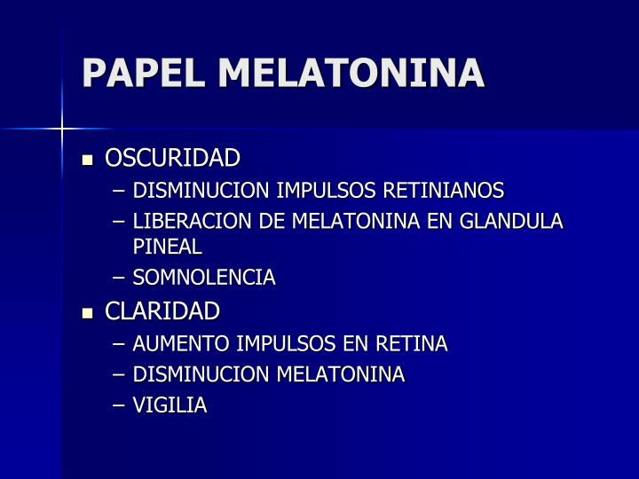 PAPEL MELATONINA