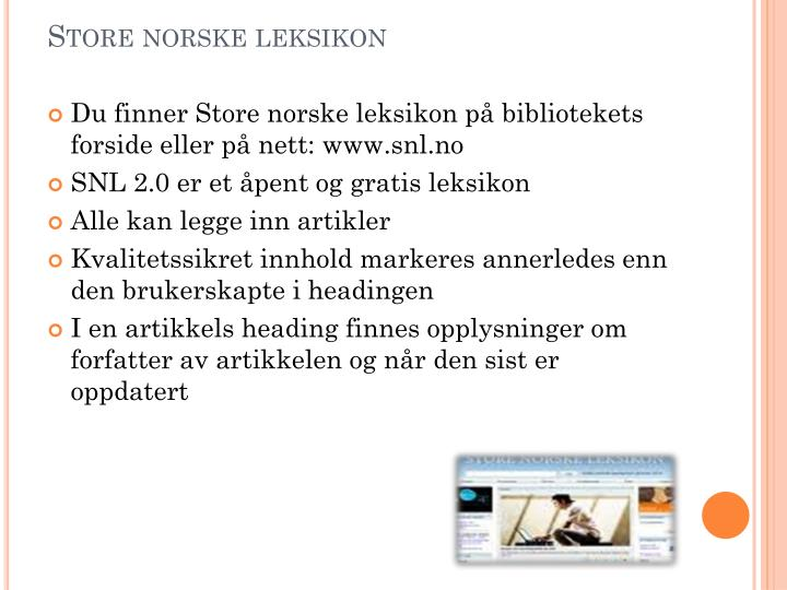 Store norske leksikon
