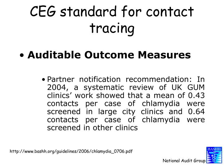 CEG standard for contact tracing