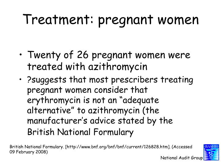 Treatment: pregnant women