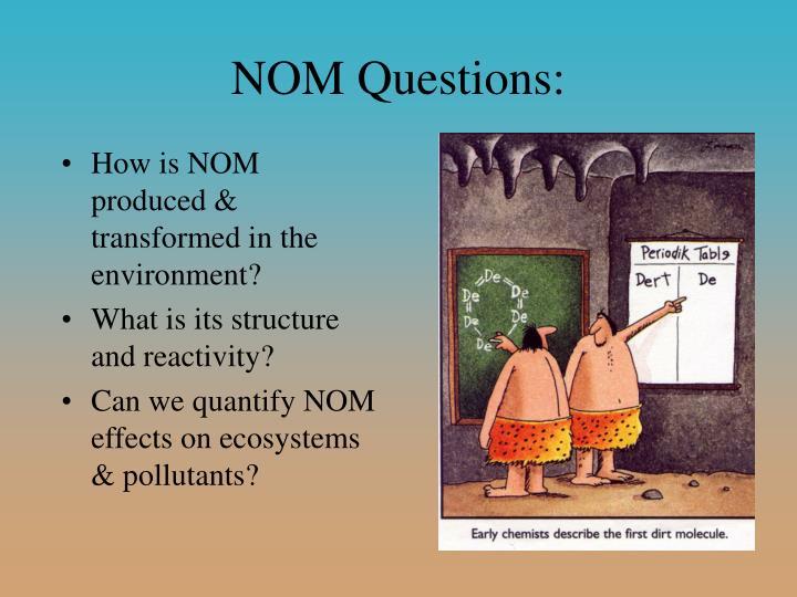 NOM Questions: