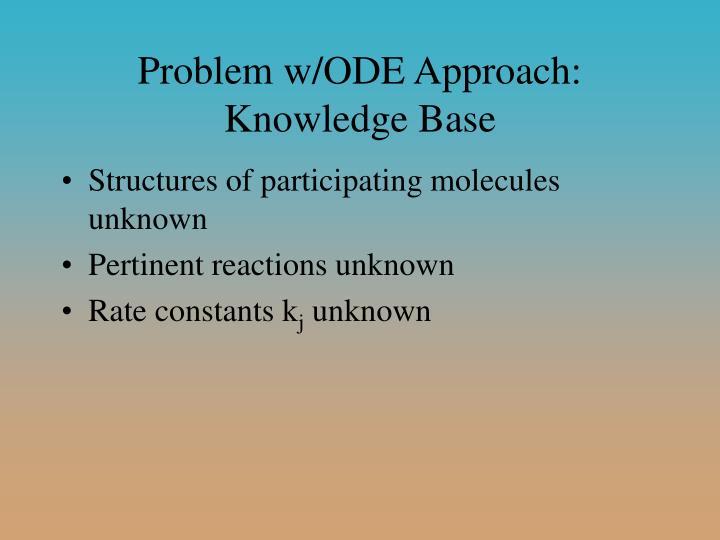Problem w/ODE Approach: