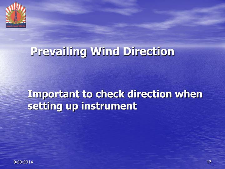 Prevailing Wind Direction
