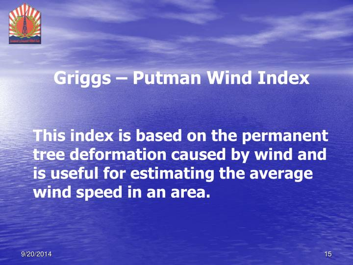 Griggs – Putman Wind Index