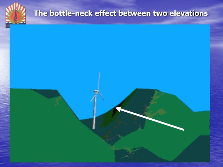 The bottle-neck effect between two elevations