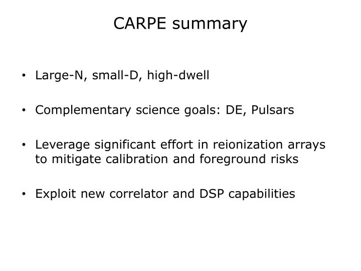 CARPE summary
