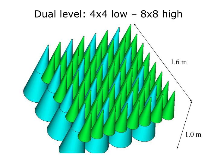 Dual level: 4x4 low – 8x8 high