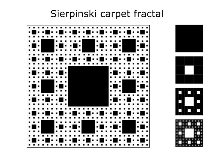 Sierpinski carpet fractal