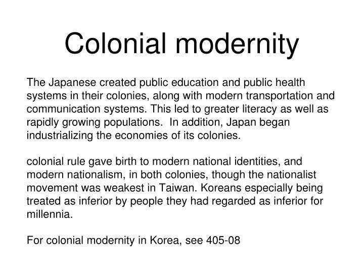 Colonial modernity