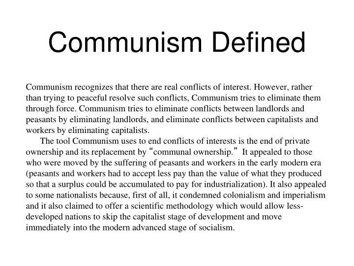 Communism Defined