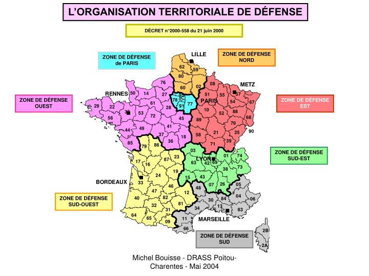 L'ORGANISATION TERRITORIALE DE DÉFENSE
