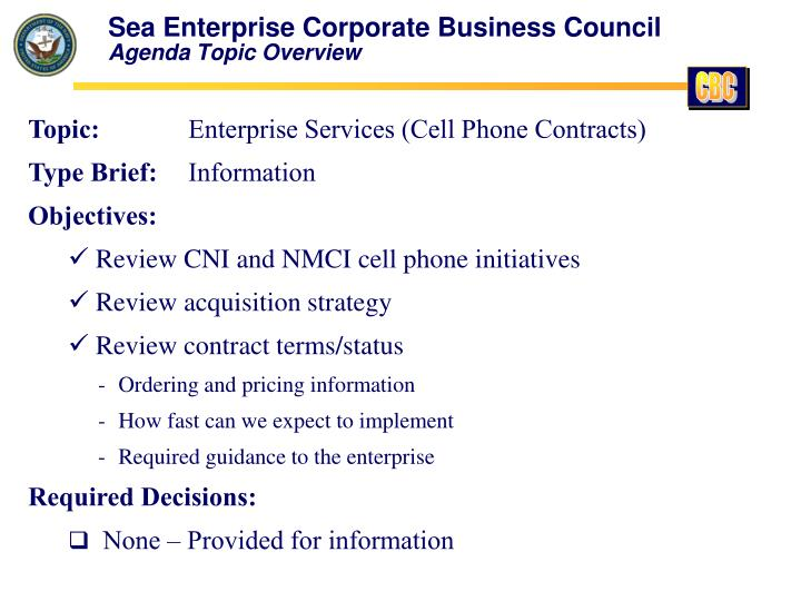 Sea Enterprise Corporate Business Council