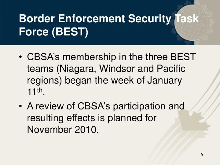 Border Enforcement Security Task Force (BEST)