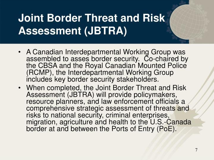 Joint Border Threat and Risk Assessment (JBTRA)