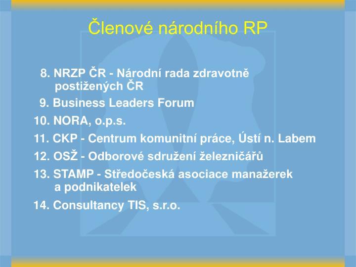 Členové národního RP