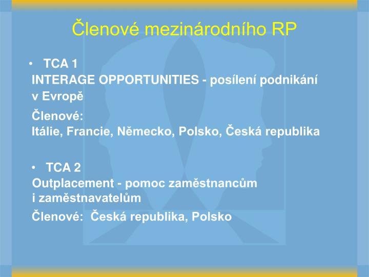 Členové mezinárodního RP