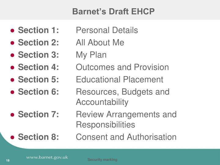 Barnet's Draft EHCP