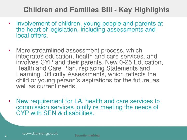 Children and Families Bill - Key Highlights