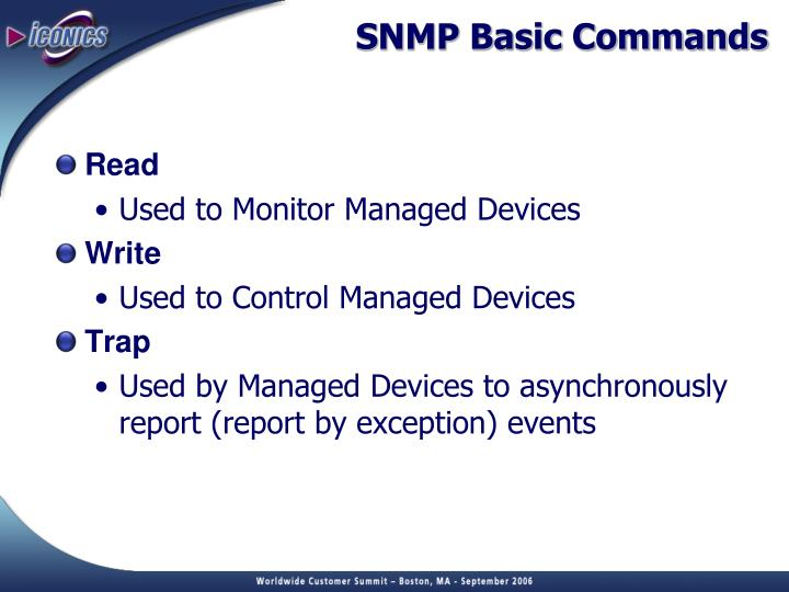 SNMP Basic Commands