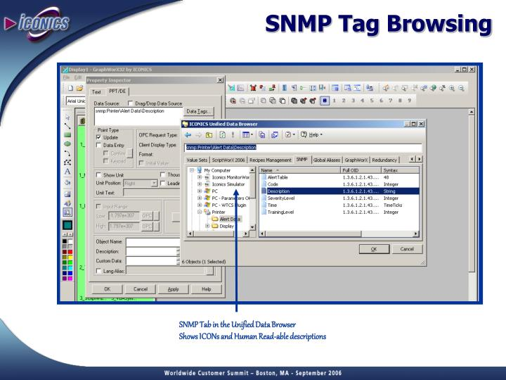 SNMP Tag Browsing