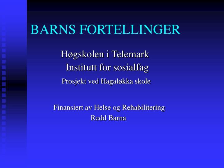 BARNS FORTELLINGER