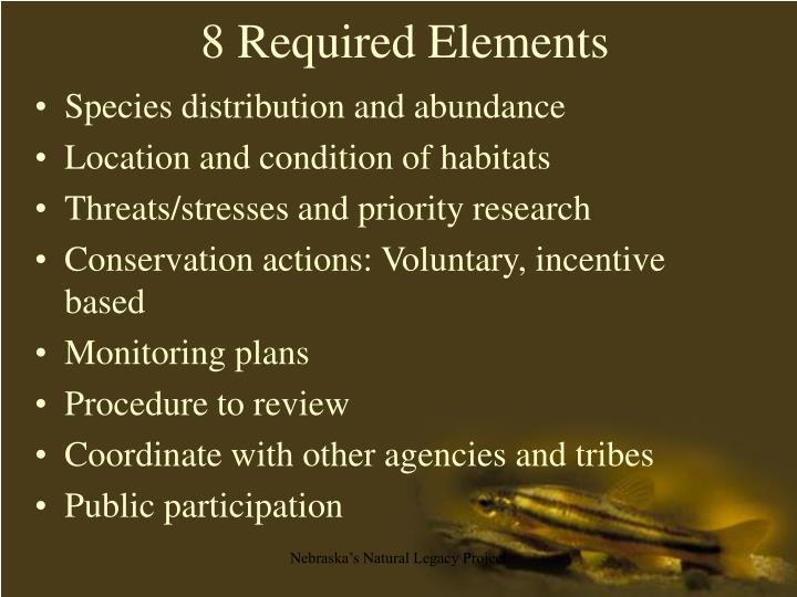 8 Required Elements