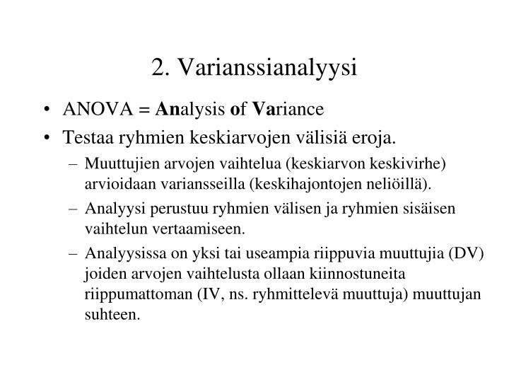 2. Varianssianalyysi