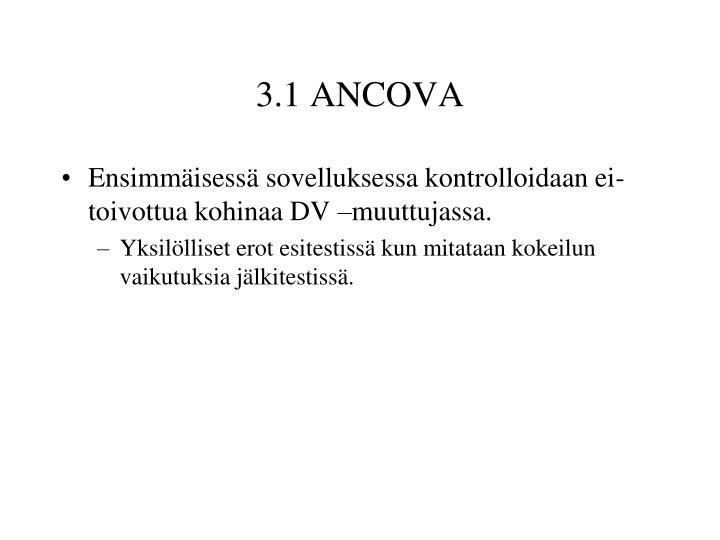 3.1 ANCOVA