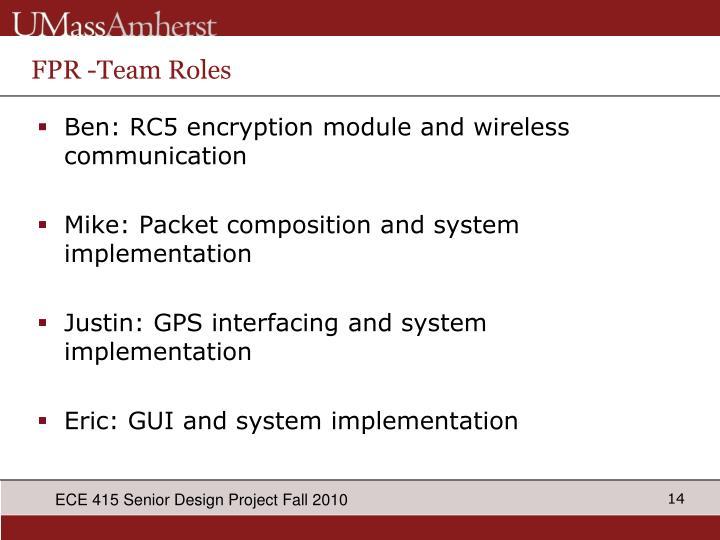 FPR -Team Roles
